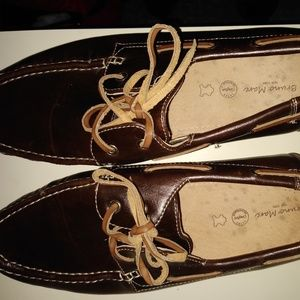 BRAND NEW BRUNO MARK LEATHER MOCCASINS